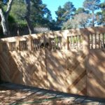 custom wood double gates Brentwood, CA