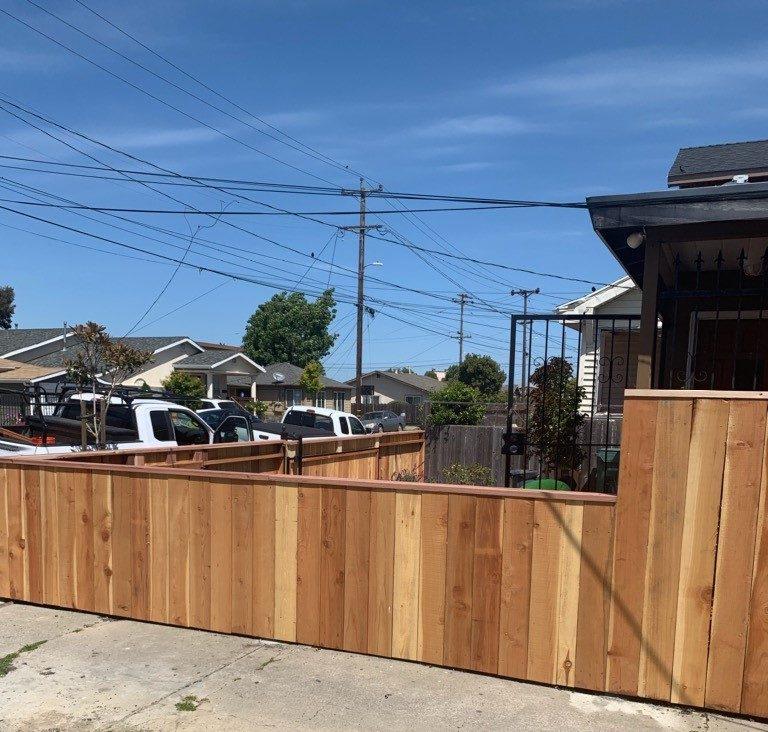 residential redwood fence Fremont, CA