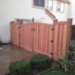 redwood double gate with side entry gate Fremont, CA