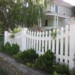 arched white picket fence Danville, CA