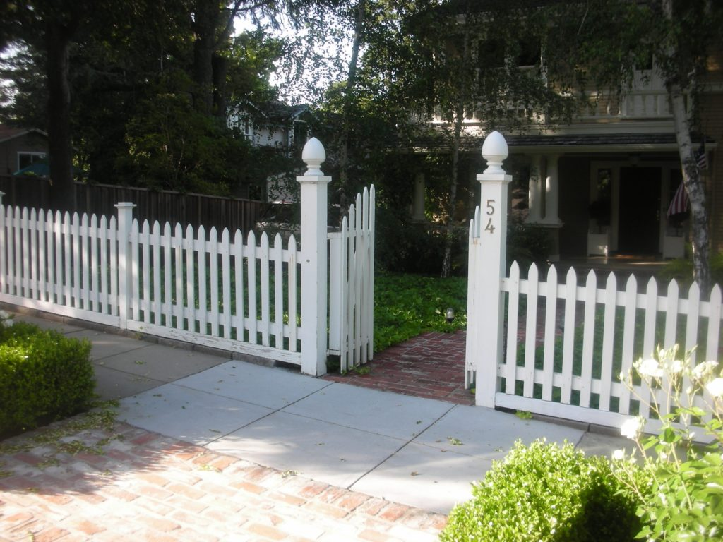 white picket fence and gate Pittsburgh, CA