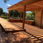 redwood pergola patio cover and decking Discovery Bay, CA