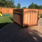 redwood pool equipment enclosure Livermore, CA