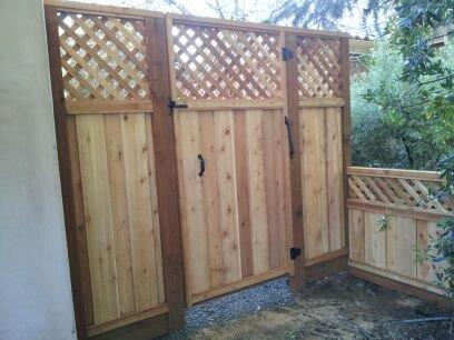 redwood gate with lattice San Jose, CA