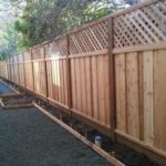 redwood good neighbor fence with lattice Brentwood, CA