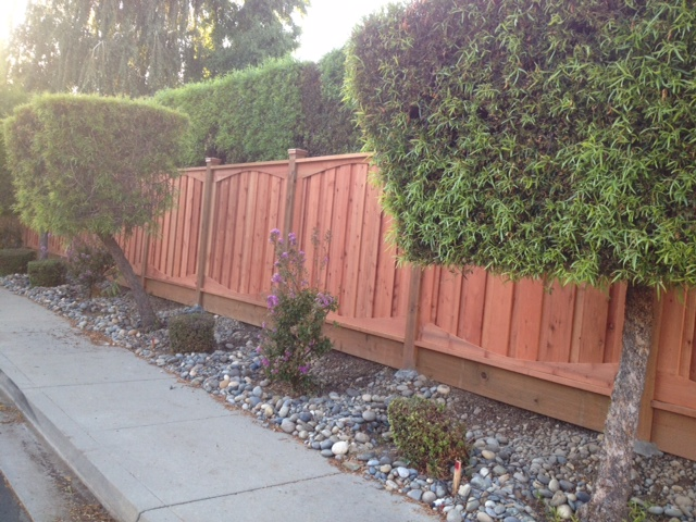 residential redwood privacy fence Antioch, CA