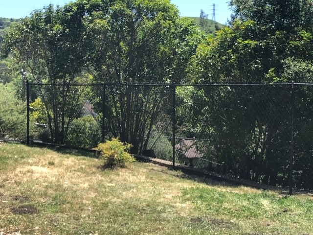 residential black chain link fence San Jose, CA