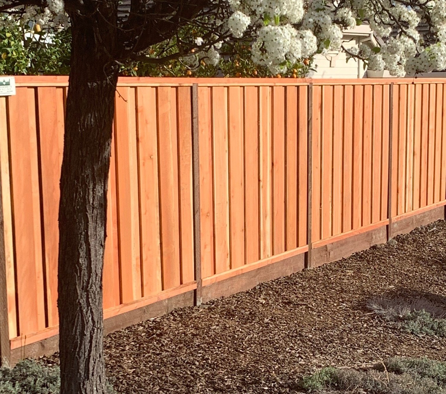 Good Neighbor Redwood Board on Board Fence Fremont, CA