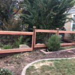 residential hogwire fence redwood Tracey, CA