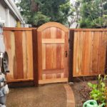 redwood trimmed single gate Moraga, CA
