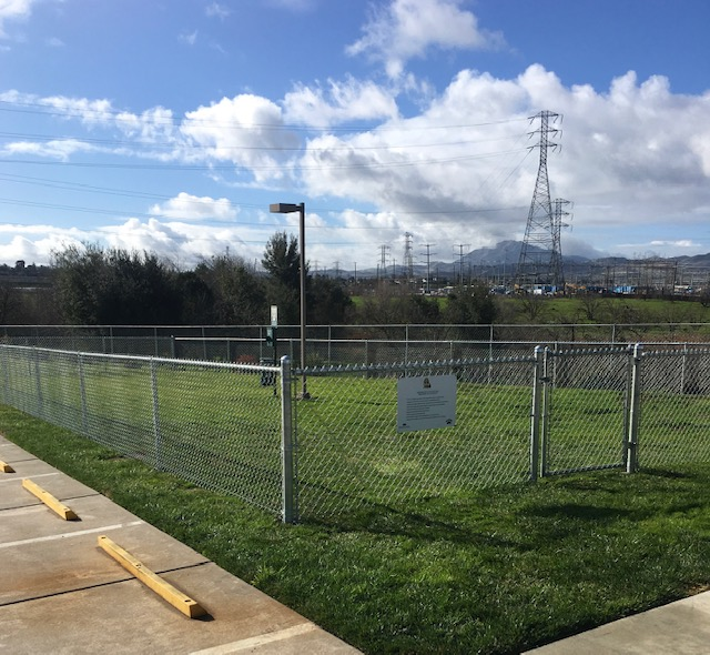 dog run chain link fence commercial property 94513