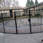iron gate and fence around swimming pool Discovery Bay, CA