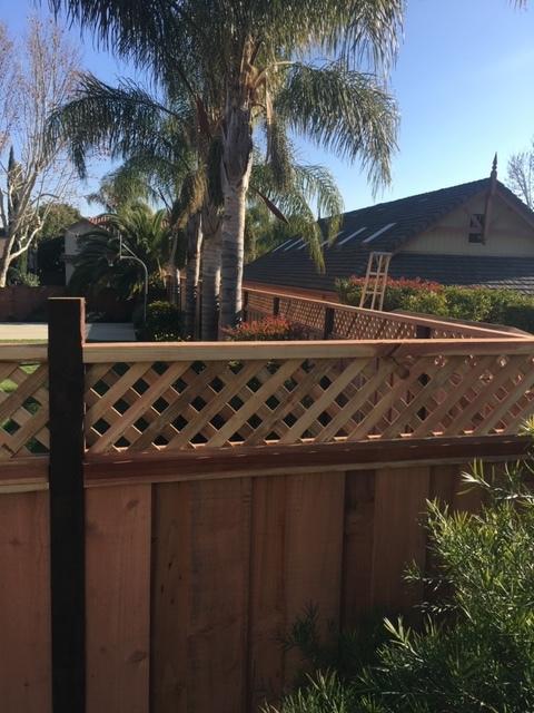 latticed redwood fence Tracey, CA