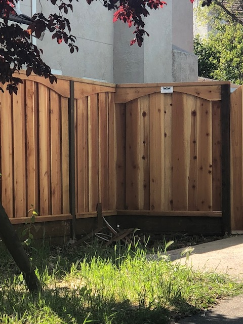 residential redwood privacy fence Moraga, CA