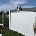 white vinyl fence under construction 94513