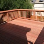redwood deck and fence Livermore, CA