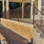 iron patio stair railing 94513