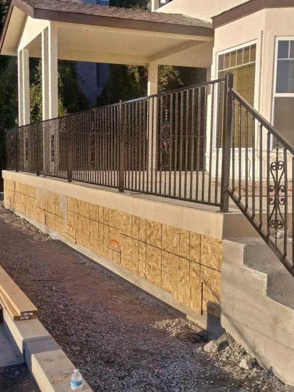 iron patio stair railing 94513