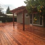 redwood deck and pergola Brentwood, CA