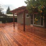 redwood deck and pergola Brentwood, CA