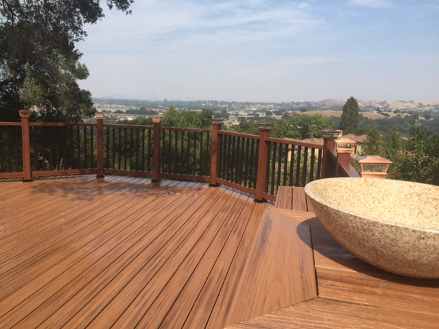 scenic custom wood deck overlooking valley 94513