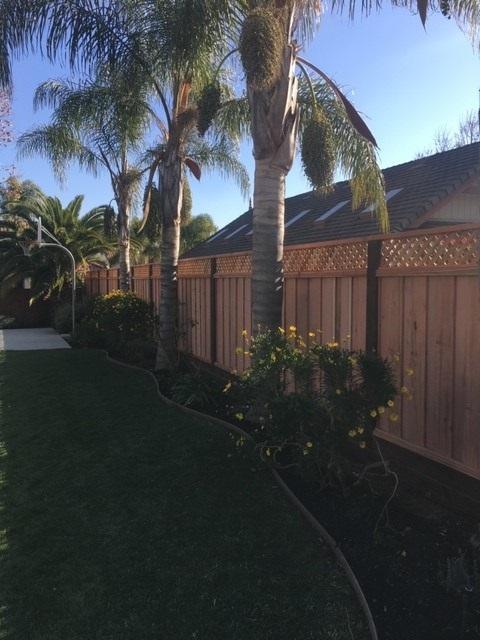 redwood good neighbor fence with lattice Walnut Creek, CA