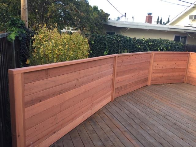 custom horizontal redwood fence Oakley, CA